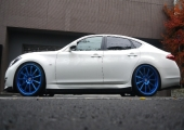 HRE 793RS TINTED BLUE 22inch on KY51 FUGA!!!