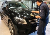 黒く輝くBENZ BRAVEガラスコーティング BRAVE glass coating For BENZ GLE350d